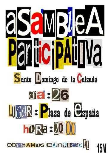Cartel Convocatoria 3ª Asamblea de Santo Domingo de la Calzada