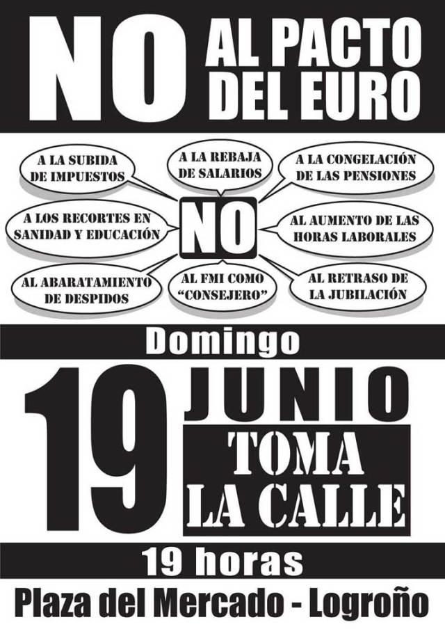 Manifestación en Contra del Pacto del Euro -toda España-