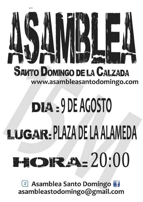 4ª Asamblea Santo Domingo, 9 Agosto 2011, 20:00 h. Plaza de la Alameda